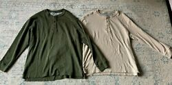 RedHead Mens Lot of 2 Thermal Long Sleeve Henley Shirts Size XL $17.95