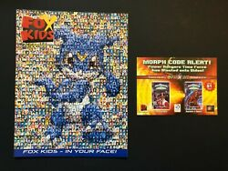 Fox Kids Magazine Summer 2001 Digimon Veemon Cover amp; Power Rangers 2 Page Poster $14.95