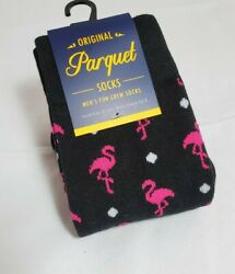 Pink Flamingo Novelty Black Socks Gift $12.95