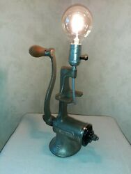 Vintage Universal #3 Meat Grinder Lamp accent Lighting Home Decor Rustic Lamp $129.00
