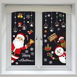 8 sheet Christmas Snowflake Window Glass Cling Stickers Santa Claus Decals Xmas $11.99
