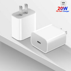 For iPhone 12 Mini 11 Pro Max iPad Fast Charger 20W USB C PD Adapter Type C $10.59