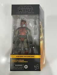 Star Wars The Black Series MANDALORIAN SUPER COMMANDO Exclusive IN HAND $38.50