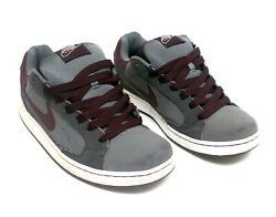 Nike NYX Dunk Low Skate Shoes Gray Burgundy Size 9.5 $100.02