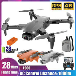 L900 GPS Drone 4K With Camera Anti Shake Foldable RC Quadcopter Brushless Drone $142.99