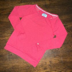 Champion Sportswear Long Sleeve Sweatshirt Sz S Red Athleisure Activewear $28.00