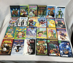 Lot Of 24 Children's Kids Family DVDs Disney Pixar Nickelodeon Nick Jr $28.77