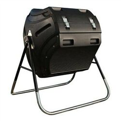 Heavy Duty HDPT Plastic 10 cubic ft. Compost Bin Tumbler with Steel Stand 80 gal $360.91