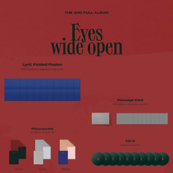 TWICE Eyes wide open Official CD Message Card Folded Poster Preorder PC SET $17.99