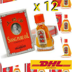 3cc Siang Pure Red Oil Thai Relieve Muscle Pain Massage Insect Bite Dizzy x 12 $43.95