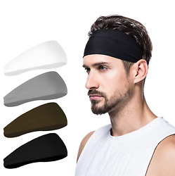 Mens Headband 4 Pack Mens Sweatband Sports Headband for Running $24.87