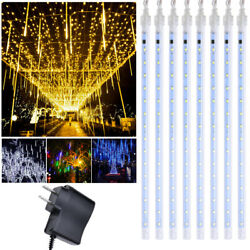 30 50CM LED Lights Meteor Shower Rain Tube Snowfall Tree Xmas Outdoor Decoration