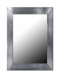 Home Basics Contemporary Rectangle Wall Mirror Silver 12x16 Inches $24.70