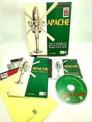 Apache The Combat Helicopter Simulator PC CD ROM Big Box Complete $13.00