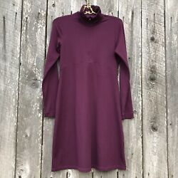 Title Nine Getaway Mock Neck Purple Dress Zip Sz S W Stretch amp; Pocket ⭐️8151 $32.00