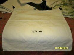 "CELINE Designer Black Storage Dust bag 23"" x 25"" for Bag Shoes or accessories"