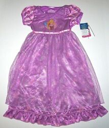 Nwt New Disney Princess Rapunzel Tangled Nightgown Pajamas Costume Purple Girl $24.99