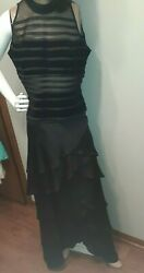 WOMEN#x27;S BLACK DRESSY SKIRT AND TOP SIZE 12 14 $16.50
