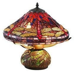 Tiffany Lamps for Living Room Lamp Dragonfly Bedroom Shades Accent Table Mosaic $350.00