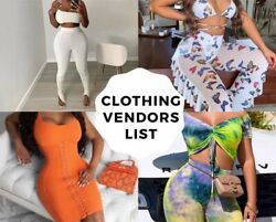Ultimate clothing wholesale vendors list 2021 E Mail Delivery