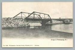 Bridge WEEKAPAUG Rhode Island Antique Westerly RI Rotograph? Postcard 1910s $19.99