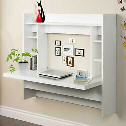 Floating Wall Mount Laptop Shelf Computer Desk Workstation Table Home Office US $63.99