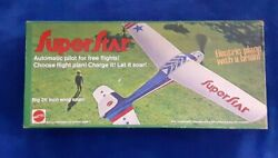 VINTAGE MATTEL SUPERSTAR ELECTRIC PLANE Still in box pre owned unused $597.57