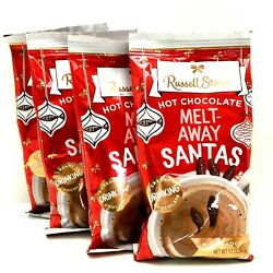 Russell Stover Hot Chocolate Mini Santa Pour and Stir Melt Away 1.7 oz Pack of 4 $9.97