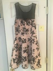 Junior Party Dress Pink and Black SZ M Great for Holidays $14.99
