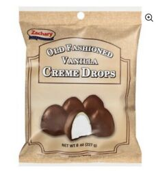 Zachary#x27;s Old Fashioned Vanilla Creme Chocolate Drops 8 oz. bags Set of 4 $14.95