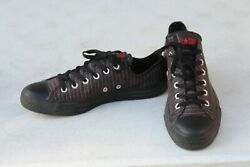 Converse All Star Mens 8 M Low top Black Red White Trim Sneakers Womens Size 10 $23.97