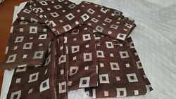 Contemporary Room Darkening Curtain Panels Brown Blue Gray 84quot; Grommet Top $14.99