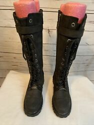 NEW HARLEY DAVIDSON WOMENS BOOTS Calf Hi Lace Up With Full Zipper SIZE 5 $71.00