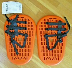 Pair of ORANGE Little Bear Snowshoes Adult 11x17 New with Tags and Bag NWT $35.50