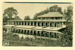 ca. 1915 EXTERIOR BUILDING w ATTACHED CANOE LAUNCH RAMP INTO WATER amp; REFLECTION