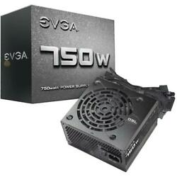 eVGA Power Supply 100 N1 0750 L1 750W 12V 120mm Sleeve Bearing Fan ATX Cable C $109.79