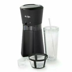Mr. Coffee Iced Coffee Maker with Reusable Tumbler and Coffee Filter Black NEW $54.95