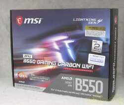 Msi Motherboard B550 Gaming Carbon Wifi 3730 $350.58
