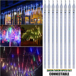 30CM 50CM LED Lights Meteor Shower Rain Tube Snowfall Tree Xmas Outdoor Decorate