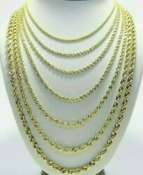 Real 10K Yellow Gold 2mm 6mm Diamond Cut Rope Chain Necklace Bracelet 16quot; 30quot; $149.96