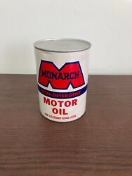 Vintage Monarch Motor Oil 1 Qt.Can Monarch Oil Co oil sae 40 NOS w oil in can $19.99