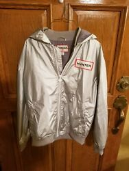 Hunter Target Silver Zip Front Hooded Jacket $29.99
