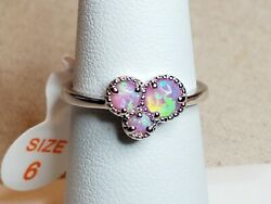 Ring Bomb Party Size 6 Pink Fire Opal vintage RBP2338 Brand New w tag amp; bag $20.95