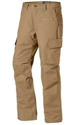 LAPG Men#x27;s URBAN OPS Tactical Pant w Elastic Waistband Coyote Brown $21.99