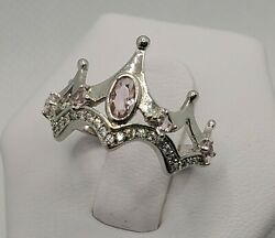 .925 STERLING SILVER CROWN Ring Bomb Party Size 6 RBP2383 GOOD QUEEN New w bag $34.95