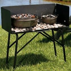 Portable Camp Table Dutch Oven Outdoor Kitchen Charcoal Cook Camping w Legs 32quot; $249.09