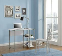 Mainstays Basic Metal Student Computer Desk Silver with WhiteWorkstation $64.66