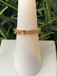 Ring Bomb Party Size 6 November Birthday Champagne Topaz On 12K Yellow Gold Ring $20.00