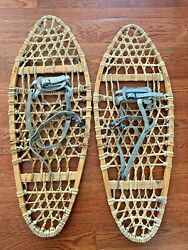 TUBBS Snowshoes 13quot; x 33quot; Beautiful Vintage Made in Vermont $89.00