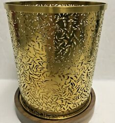 DIPTYQUE CANDLE HOLDER BRASS WITH Wooden BASE 5quot; x 4quot; See Details $135.98